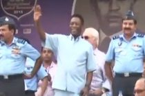 Pelé attends Subroto Cup 2015 Final in New Delhi