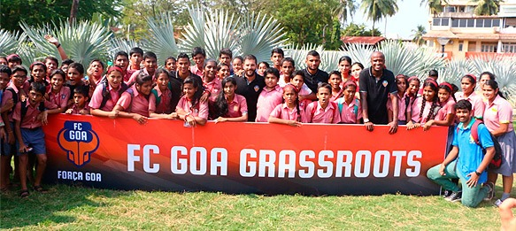 FC Goa hosts its first FC Goa Open Day at Rosary High School
