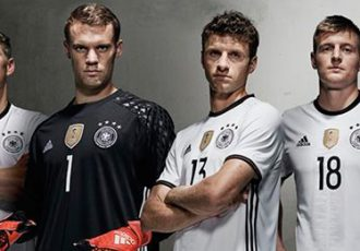 """Die Mannschaft"" and Cro present the Germany home kit for UEFA EURO 2016"