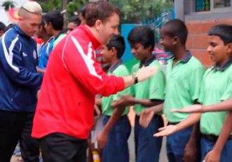 Guam national team visits Parikrma School in Bengaluru