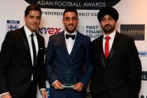 Wales star Neil Taylor wins Player Award at Asian Football Awards 2015