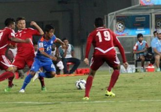 India's Lallianzuala in against Nepal