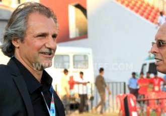 Afghanistan coach Peter Segrt and India coach Stephen Constantine