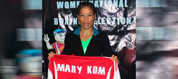 Shillong Lajong presents jersey to boxing legend Mary Kom