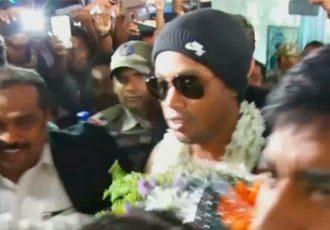 Ronaldinho arrives in Kerala - Day 1