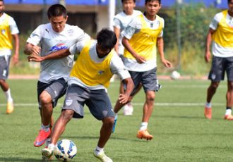 Bengaluru FC training session.