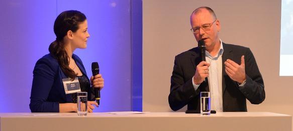 Melek Balgün and Thomas Röttgermann (CEO, VfL Wolfsburg)