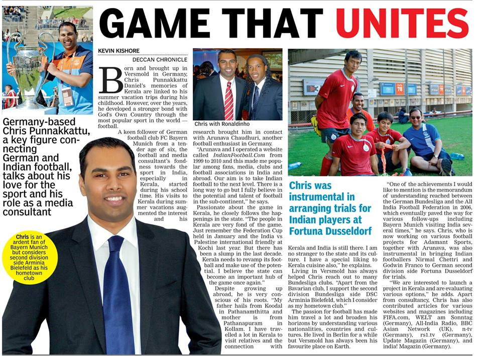 Deccan Chronicle - Chris Punnakkattu Daniel
