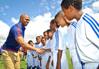 adidas SA hosted former Manchester United player Quinton Fortune in his hometown of Athlone.