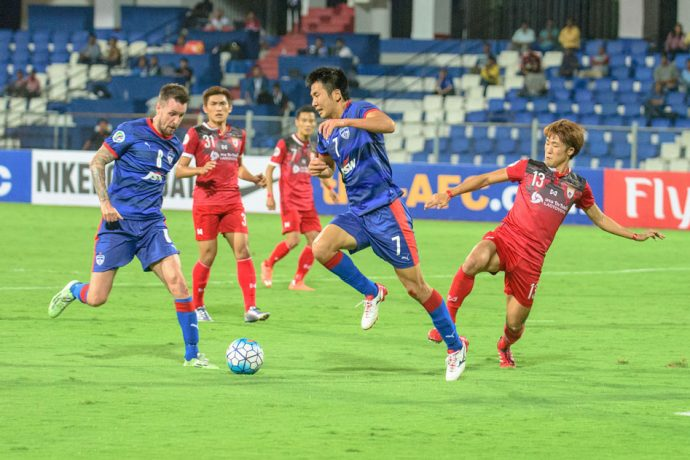 Bengaluru FC striker Kim Song Yong in action against Lao Toyota FC