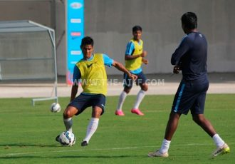 India star Eugeneson Lyngdoh during a training session.