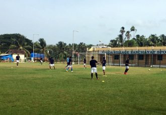 Minerva Academy FC during a practise session.