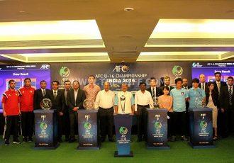 AFC U-16 Championship India 2016 draw ceremony in Goa.