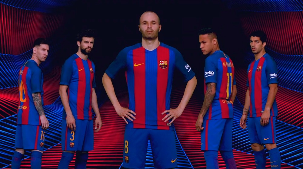best sneakers 3be7e 6ba53 FC Barcelona and Nike unveil new Home Kit for 2016-17 season