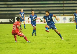 Federation Cup action between Bengaluru FC and Aizawl FC.