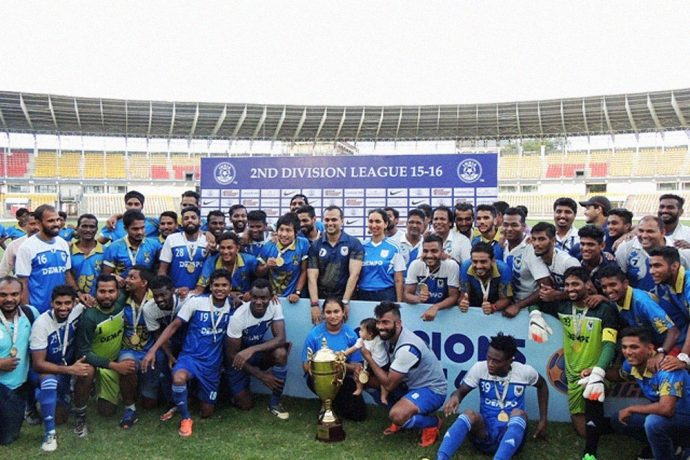 Dempo SC gain promotion to I-League after a thumping win against Minerva