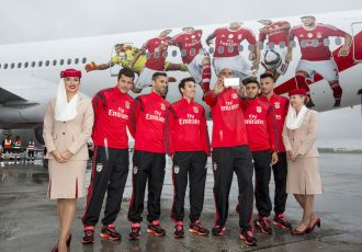 Emirates cheers for Benfica ahead of the Season Finale