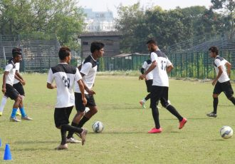 Mohammedan Sporting Club during a practise session.