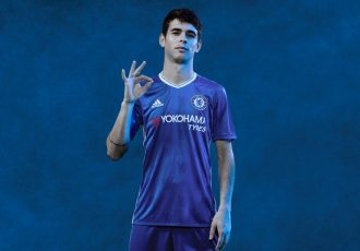 Oscar wearing the new 2016/17 Chelsea FC Home Kit by adidas.