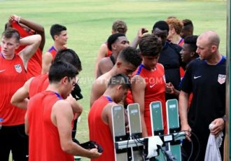 AIFF Youth Cup 2016: The United States U-17 team during a practice session