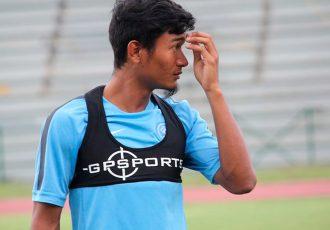 India midfielder Holicharan Narzary. (Photo courtesy: AIFF Media)