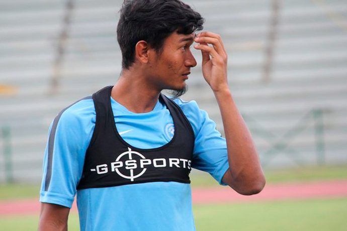 India midfielder Holicharan Narzary. (Photo courtesy: AIFF Media)