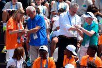 Vyacheslav Krupenkov, Senior Managing Director of GAZPROM Germania GmbH and Franz Beckenbauer, Global ambassador of the FOOTBALL FOR FRIENDSHIP program during the Fourth International Children's FOOTBALL FOR FRIENDSHIP Forum (PRNewsFoto/FOOTBALL FOR FRIENDSHIP)