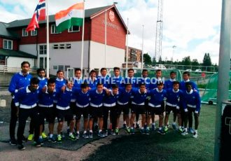 The India U-17 national team in Norway.