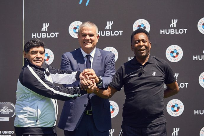Hublot creates history in bringing Pelé and Maradona together