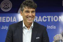 FIFA Head of Referees Massimo Busacca in Kochi, India