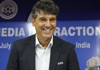 FIFA Head of Referees Massimo Busacca in Kochi, India