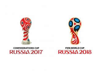 Logos of the FIFA Confederations Cup 2017 and the 2018 FIFA World Cup