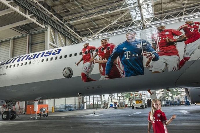 Lufthansa to fly FC Bayern Munich to the US with their own aircraft design