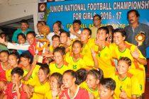 Manipur win Junior National Football Championship for Girls.