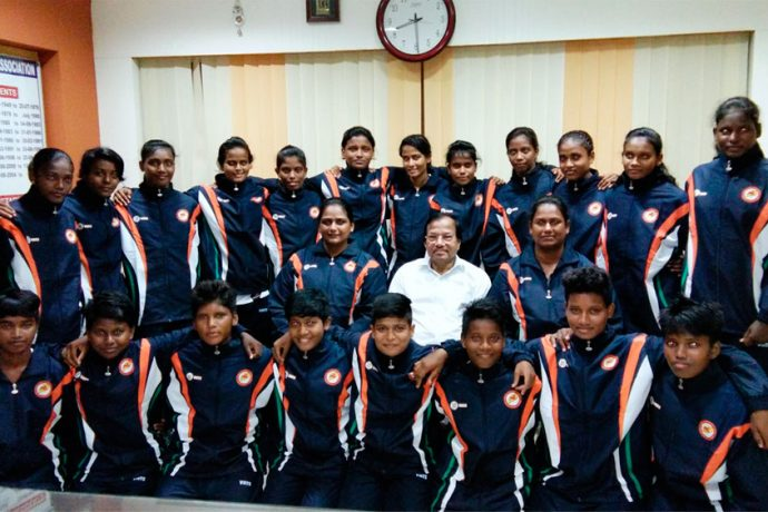 Odisha Junior Women's Team for the Junior Women's National Football Championship 2016