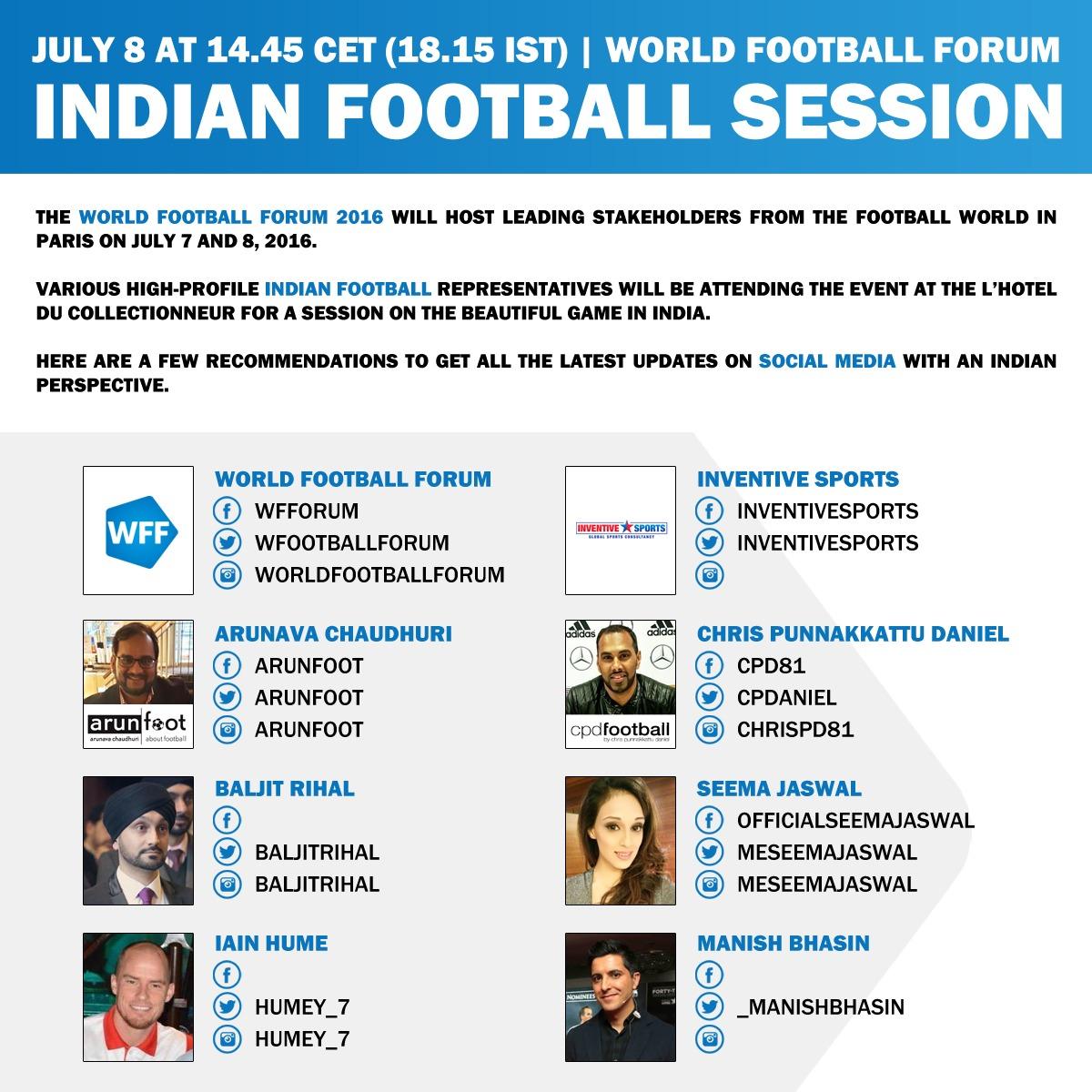 World Football Forum - Indian Football Session - Social Media