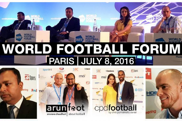 The World Football Forum 2016 in Paris on July 8, 2016.