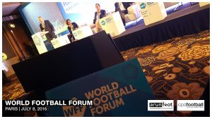 World Football Forum 2016 in Paris on July 8, 2016