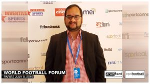Arunava Chaudhuri (arunfoot) at the World Football Forum 2016 in Paris on July 8, 2016.