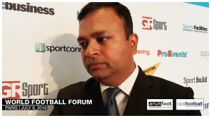 Sunando Dhar (CEO, I-League) at the World Football Forum 2016 in Paris on July 8, 2016.