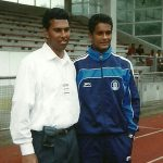 2002: Chris Punnakkattu Daniel and Subrata Paul during the India U-17 national team camp in Germany. (Photo Copyright: CPD Football)