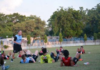DSK Shivajians FC training session.
