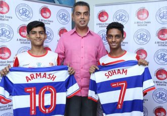 Milind Deora-QPR South Mumbai Junior Soccer Challenger 2015 Talent Hunt winners are London bound