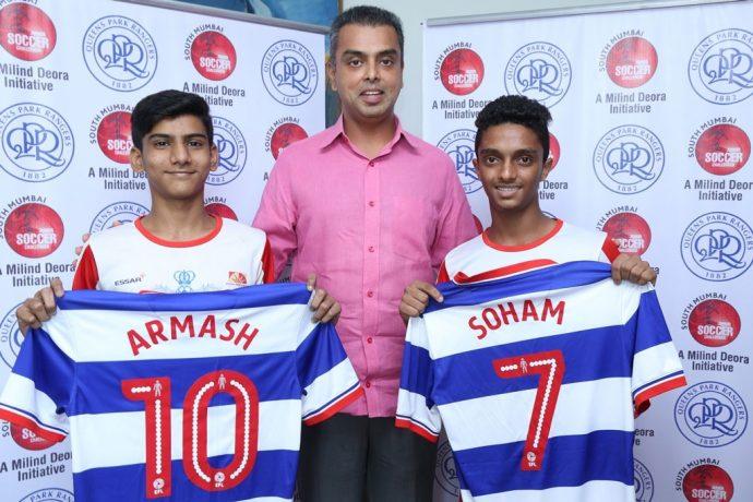 Milind Deora-QPR South Mumbai Junior Soccer Challenger 2015 Talent Hunt winners are London bound