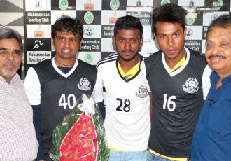 Mohammedan Sporting Club players and officials