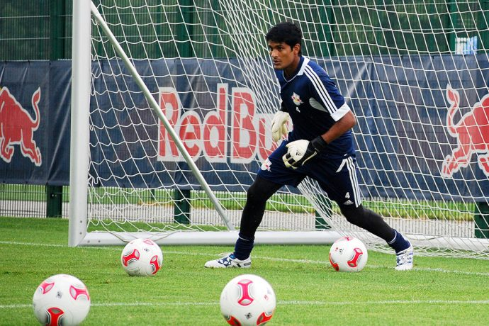 Subrata Paul during a training session at Germany's RB Leipzig in 2012. (Photo Copyright: CPD Football)