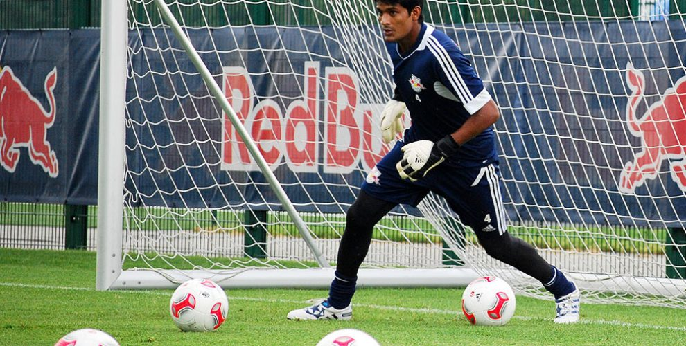 Subrata Paul during a training session with Germany's RB Leipzig. (Photo Copyright: CPD Football)