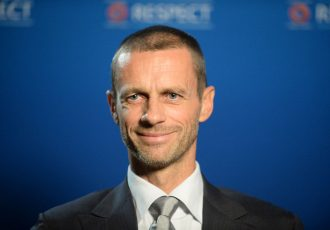 UEFA President Aleksander Čeferin. (Photo by Paul Murphy - UEFA/UEFA via Getty Images)