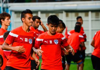 Bengaluru FC players during a training session.