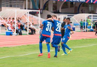Bengaluru FC players celebrating.
